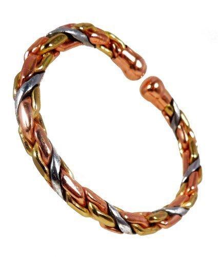 The Online Bazaar cuivre magnétique, Laiton et Aluminium Lourd Corde Bracelet mcb036