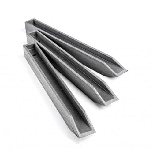 Ecolat Ecopic Pfähle grau, Länge 38cm, aus 100 % recyceltem Kunststoff, im Set mit 10 Stück zu bestellen