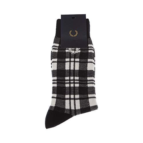 Fred Perry Calcetín Medio alto - 1 par - sin costuras - Moda - Noir - mod scott/tartan socks - 35/38