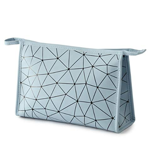 Cosmético Bolsa Bolso cosmético Rhombus Bolso de almacenamiento de rombos geométricos de cuero de PU Bolso de viaje portátil a prueba de agua Profesional Neceser neceser viaje pequeño