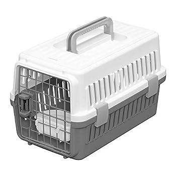 Iris Ohyama, Caisse de transport avec abreuvoir amovible pour chien et chat jusqu'à 5 kgs - Air Travel Pet Carrier - ATC-460 - 29 × 46 × 28,5 cm