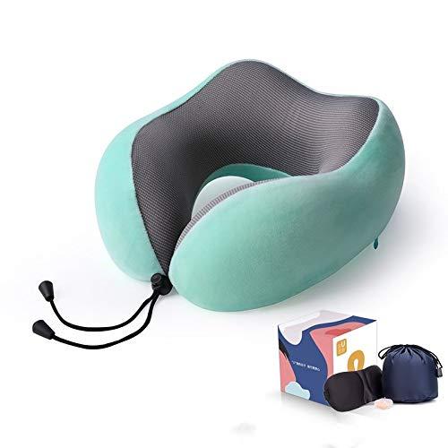Almohada para el Cuello, Almohada en Forma de U, Almohada de Espuma viscoelástica de Rebote Lento, Almohada de Viaje en Forma de U, Almohada para el Cuello