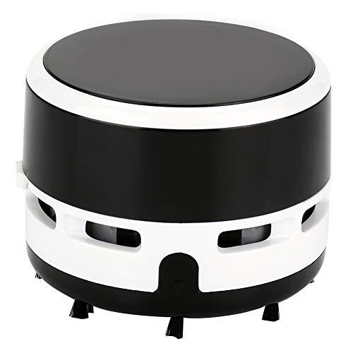 Aspirador de escritorio, borrador de polvo de escritorio de vacío ligero Residuos de plástico y cepillo de nailon 8 x 6 cm (negro)