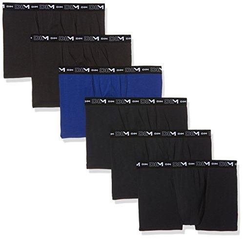 Dim X6 Boxer Coton Stretch lot de 6, Multicolore (Noir/Bleu Indigo/Noir + Noir/Noir/Noir 78v), XX-Large (Taille fabricant: 6) Homme