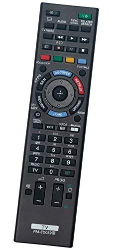 ALLIMITY RM-ED059 Fernbedienung Ersetzen fit für Sony LED LCD Bravia TV KDL-42W705B KDL-42W817B KDL-42W805B KDL-42W829B KDL-50W828B KDL-50W828B KDL-42W705 KDL-42W815B KDL-50W805B