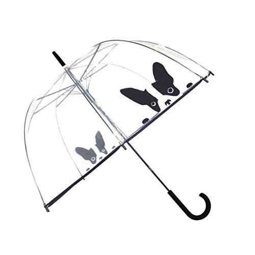SMATI Stick Regenschirm Hund Verstärkte Version – Winddicht – Vogelkäfig Dome Siehe durch