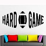 Autocollant Mural,Rugby Club Sticker Mural Football Américain Sticker Imperméable Vinyle Stickers Décor À La Maison Pour Les Adolescents Chambre Chambre À La Main 100x42 cm