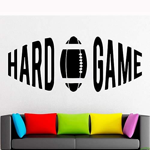 yaonuli Rugby Club Wandaufkleber American Football Wandtattoos Wasserdicht Vinyl Aufkleber Jugendzimmer Schlafzimmer Handgemacht 150X63 cm