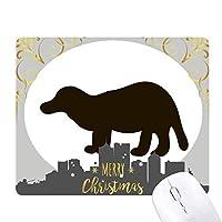 ブラックbagcerかわいい動物 クリスマスイブのゴムマウスパッド