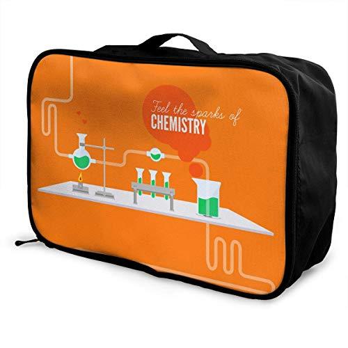 Qurbet Reisetaschen,Reisetasche, Lightweight Large Capacity Portable Duffel Bag for Men & Women Chemistry Fire Test Sport Duffel Bag Backpack