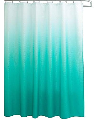 Creative Home Ideas Ombre Shower Curtain Set, 70'x72', Turquoise