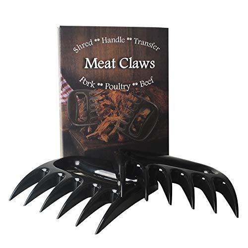 Garras de cerdo, tenedor de carne para barbacoa, garras de carne de plástico para cerdo, cerdo, cebolla, pollo, 2 unidades