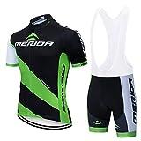 TeckBoo Conjunto Ropa Ciclismo para Hombre, Maillot Ciclista Mangas Cortas y Culotte Bicicleta con 5D Gel Pad, Camiseta MTB para Verano