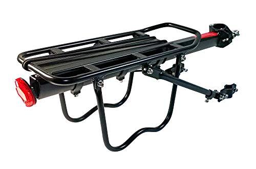 VDP Gepäckträger MTB verstellbar für Sattelstütze Mountainbike Fahrrad Aluminium
