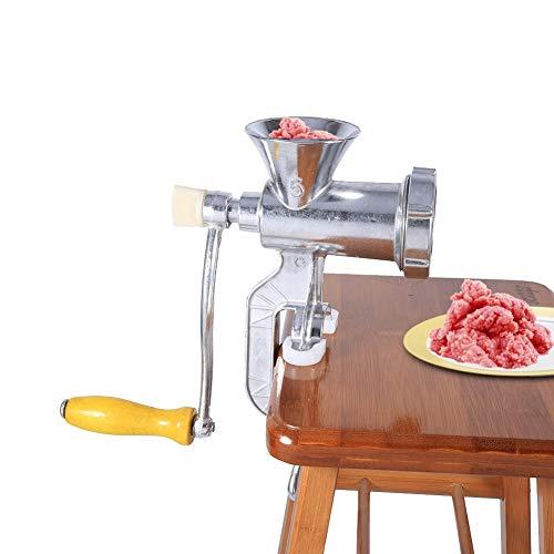 Picadora de Carne, Acogedor Picadora de Carne Manual, hecho de Aleación de Aluminio, Ahorra Tiempo Y Esfuerzo, Resistente, para Restaurante, Hotel, Cantina Y Carnicería