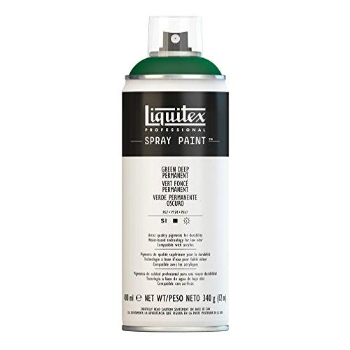 Liquitex Professional Spray Paint - Acrylfarbe, Farbspray auf Wasserbasis, lichtecht, 400 ml - Dunkelgrün permanet