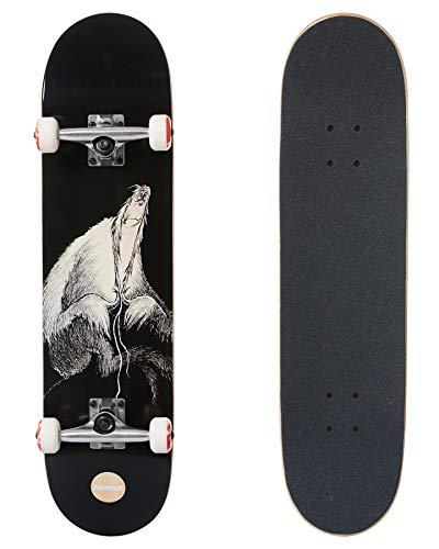 Almost Dr. Secret Art Fp - Skateboard completo per bambini, 20 cm, colore: Nero