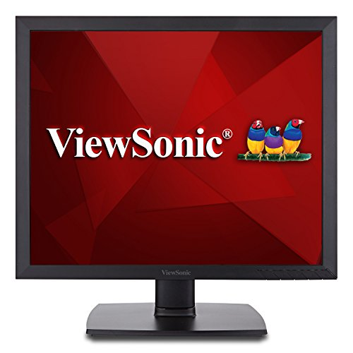 ViewSonic VA951S 19 Inch IPS 1024p LED Monitor with DVI VGA and Enhanced Viewing Comfort, Black