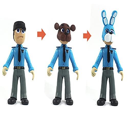 liuyb Five Nights At Freddy'S Figura De Acción Juguetes Oso con Paquete De Iluminación Muñecas Modelo PVC Regalos para Niños