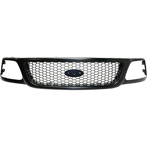 ASL Grille Compatible with 1999-2003 F-150 2004 F-150 Heritage 1999 F-250 Primed Honeycomb Insert Plastic