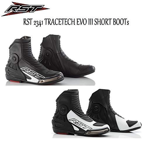 RST 2341 TRACETECH EVO III Herren Kurzstiefel Motorrad Quad Rider On-Road Sport Racing Touring CE-geprüfte Stiefel, Herren, schwarz / schwarz, 45