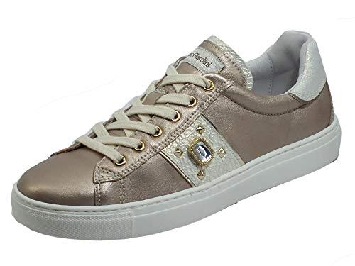 Nero Giardini E115286D Etoile Saturn Platino Sneakers Sportive per Donna in Pelle Zeppa Bassa (Taglia 38)