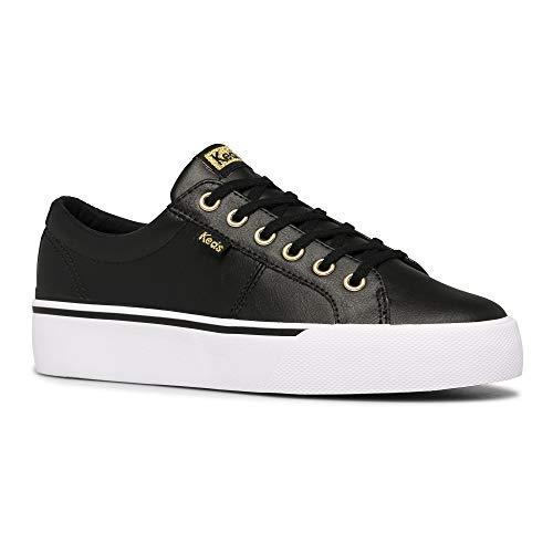 Keds Women's Jump Kick Duo Hidden Wedge Sneaker, Black/Gold, 9 Medium