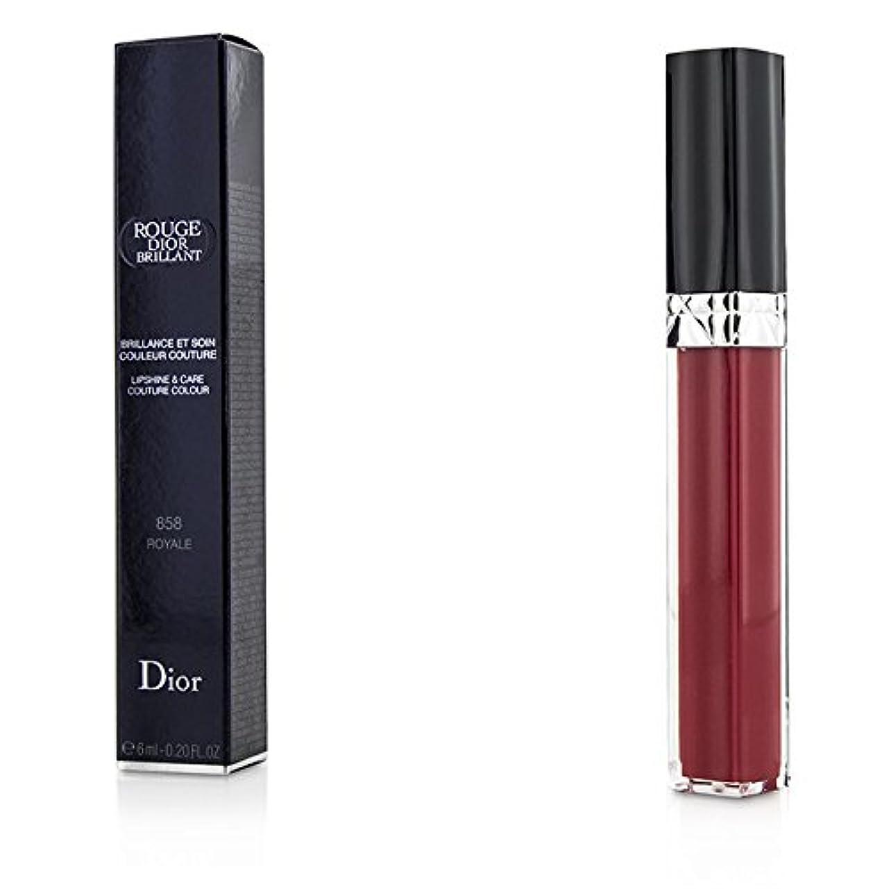遠いアクセシブル中性クリスチャンディオール Rouge Dior Brillant Lipgloss - # 858 Royale 6ml/0.2oz並行輸入品