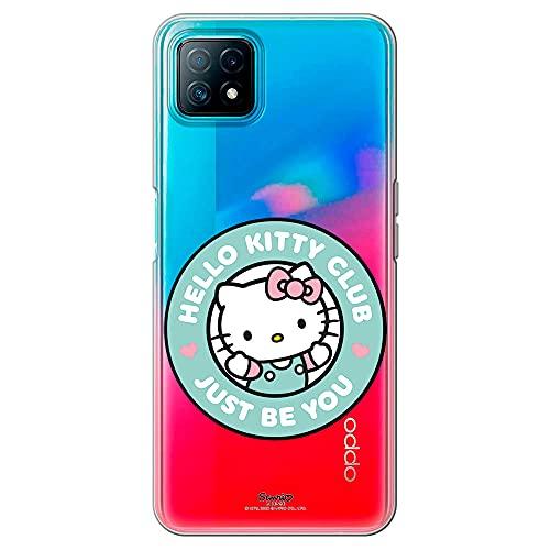 Movilshop Funda para [ OPPO A73 5G ] Hello Kitty Oficial [Just Be You] Sanrio de Silicona Flexible Transparente Carcasa Case Cover Gel para Smartphone.