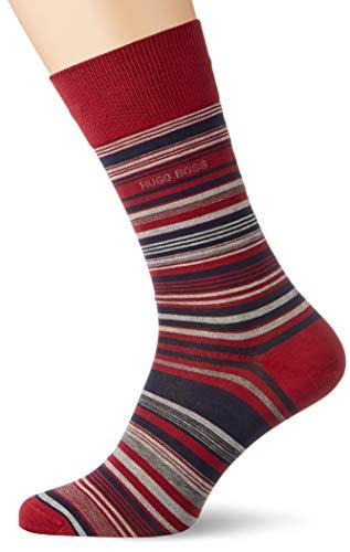 BOSS Herren RS Multistripe MC Klassische Socken, Dark Red609, 43-46