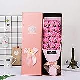 ELECTRI Bouquet De Fleurs De Savon Fait Main Simulation 18 Roses Coffret Cadeau Fête des Mères Cadeau Saint Valentin 1 Bundle