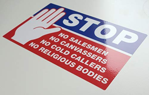 Stop Cold Calling Deur Sticker - Geen Koude bellers - Geen Religieuze Groepen - Geen Verkopers - Volledig Weerbestendig Teken door TheStickerShop
