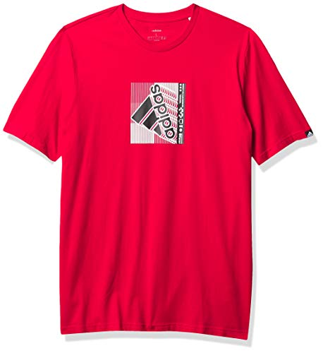 adidas Camiseta de Hombre Retro Media Case, Hombre, Camiseta, IXW04, Escarlata, XXL