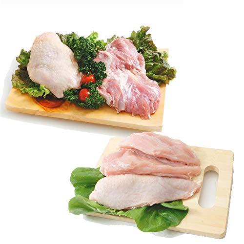 阿波尾鶏 鶏もも肉 むね肉セット(もも肉2kg+むね肉1kg)合計3kgセット (徳島県産) (pr)(01010)特定JAS認定 国産出荷量ナンバー1の軍鶏血統地鶏