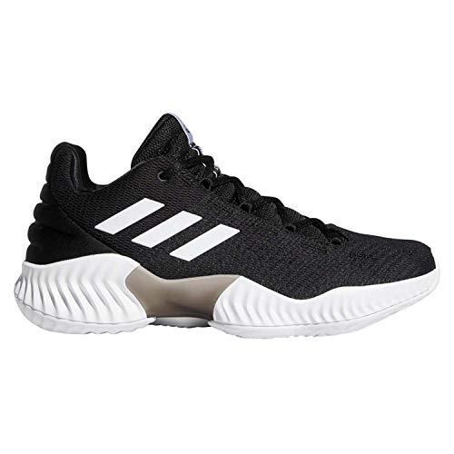 adidas Men's Pro Bounce 2018 Low Basketball Shoe, Black/White/Black, 12 M US