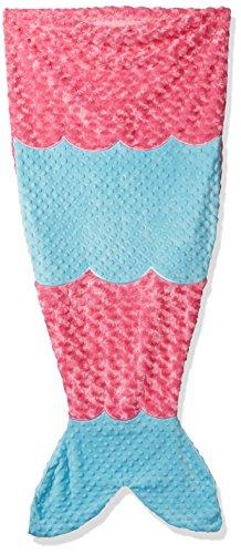 Mud Pie Baby Girls' Nursery Blanket, Mermaid Tail, One Size