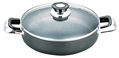 All American Collection Low Pot Non-stick Coating with Glass Lid Cover (16 Inch)