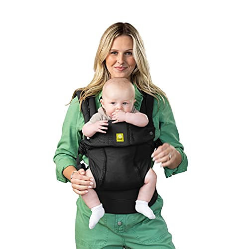 LÍLLÉbaby Complete All Seasons Ergonomic All-Positions Baby Carrier, Newborn to Toddler with Lumbar Support, 7-45 Pounds, Black