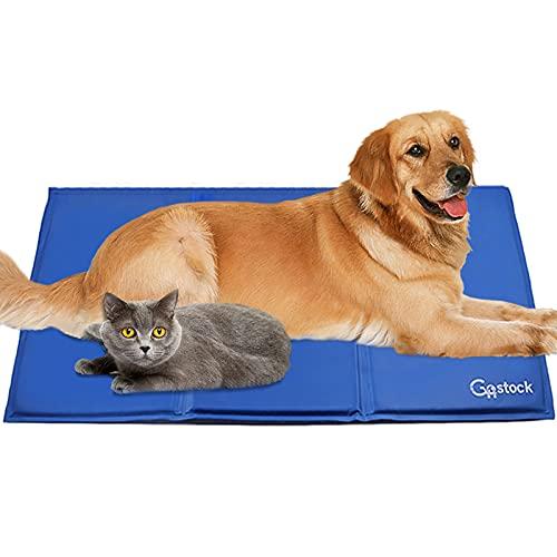 Kühlmatte für Hunde, GoStock Kühlmatte für Haustier Ungiftiges Gel-Selbstkühlungs Matte für Hunde und Katzen, Pet Cooling Mat Hund Cooler Pad für Kisten, Zwinger und Betten (90 * 60cm)