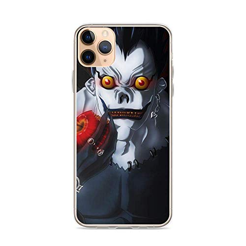 Gladiour Compatible con iPhone 11 12 Pro Max XR 6/7/SE 2020 Death Note Ryuk Shinigami y Apple Manga Mystery Japanese Anime Pure Clear Funda de protección a prueba de golpes