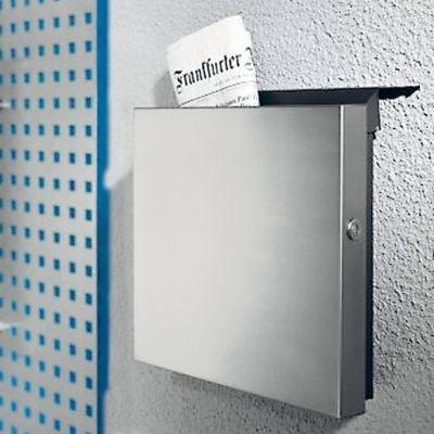 Square Briefkasten Edelstahl gebürstet - 36 x 10 cm, h 36 cm