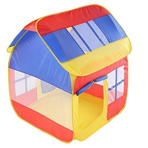 Tienda infantil Tiendas de campaña Niños Espacio Pop Up casa del juego del juguete Tienda de campaña de empalme del color del contraste cubierta esquina Carpa plegable princesa grande Playhouse Con bo