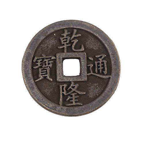 TingFengGe Engrosamiento de Cobre Grande Monedas Qianlong Daoguang Antiguo Emperador Dinero Solo 6 cm Latón fundición geomancia Omen Amuleto exorcizar espíritus malignos Dinero Dibujo Riqueza Fortuna