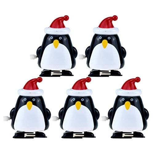 STOBOK 5pcs Weihnachtsspielzeuge Wickeln Oben gehende Pinguinuhrwerkspielwaren auf die Stuffers für Kinderparteibevorzugungen - Fetter Pinguin auffüllen