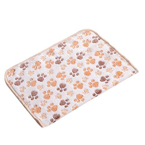 ma-on Cute Cartoon mit Hundemotiv Weiche Decke Bett Matte für Hunde/Welpen Fleece Pet (beige)