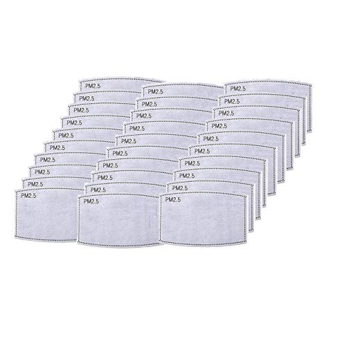 Tentoku 30PCS PM2.5 Activated Carbon Filter for Breathing, 5 Layers Activated Carbon Filter pieces Anti Haze Filter for Protective Mouth Filter for Outdoor (30pc)