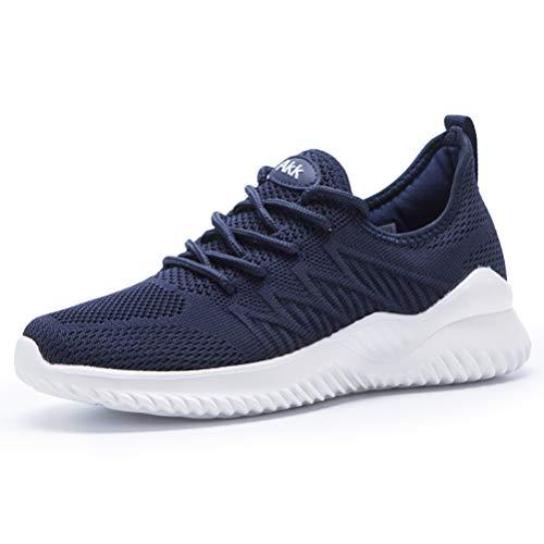 Akk Womens Athletic Walking Shoes Sneakers- Memory Foam Lightweight Tennis Sports Shoes Gym Jogging Slip On Running Sneakers Navy 11
