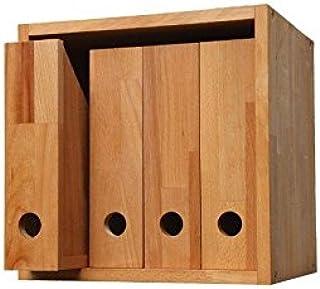 EcoGo Stehsammler Holz B/üro Zeitschriftensammler Holz Zeitschriftenbox Schreibtisch Organizer Wei/ß
