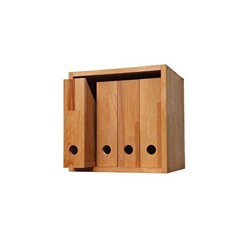 Praktischer Zeitschriftensammler, 4er Set, Stehordner aus Massivholz Buche geölt, Stehsammler, Archivsammler, Ordner, echtes Holz