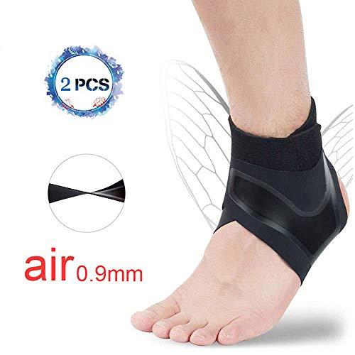 Knöchelstütze Fußschutz Fußgelenkbandage,Sprunggelenkbandage für Damen und Herren, Linke und rechte Füße, Knöchelbandage stützt den Fuß beim Sport wie Handball, Fußball, Volleyball (1 Paar) ,XL(45-48)